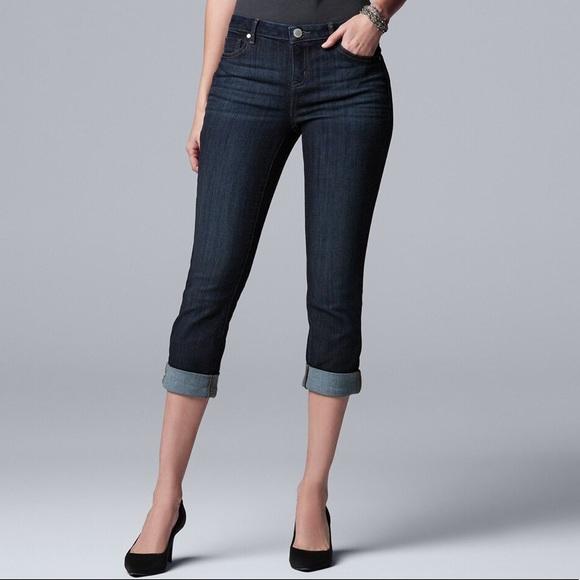 Simply Vera Vera Wang Denim - Vera Jeans size 4 capri